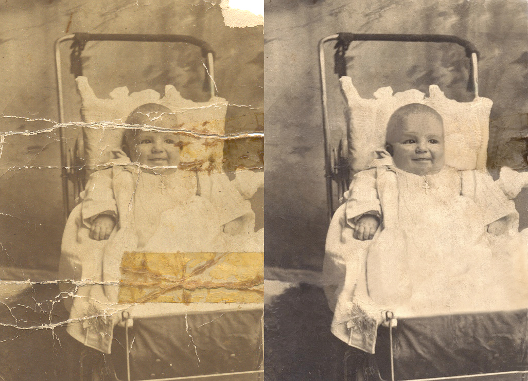 Option 3 image example before and after restoration